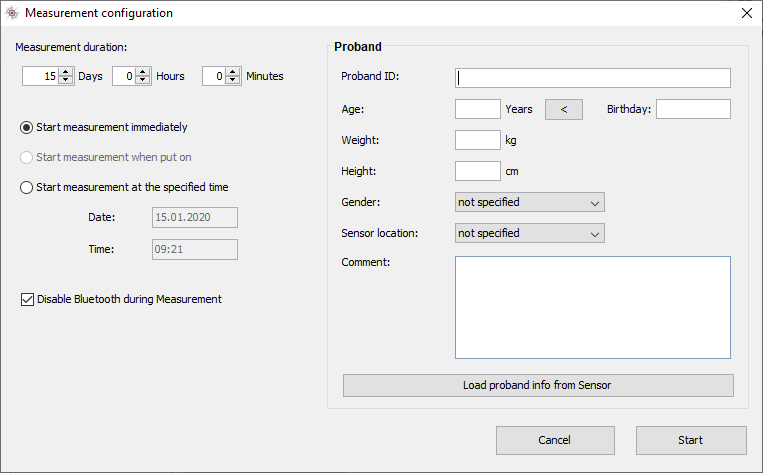 Screenshot Move 4 Measurement Configuration