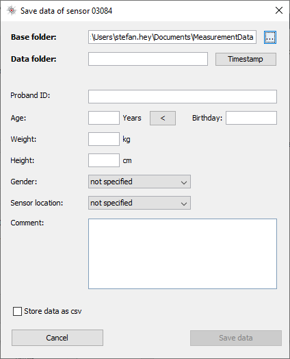 Screenshot SensorManager Save Data