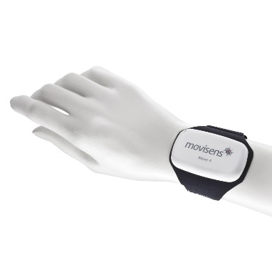 Move 4 Sensor attached with wrist band